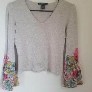 Floral Bell Sleeve 70s Style Boho Top